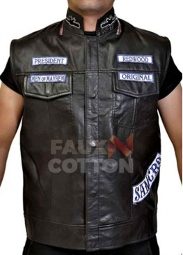 Sons of Anarchy Jax Teller Leather Vest