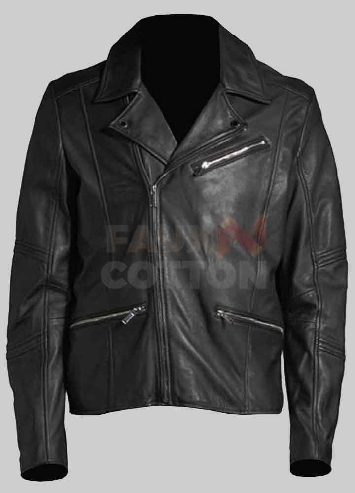 Men's Black Motorcycle Leather Jacket