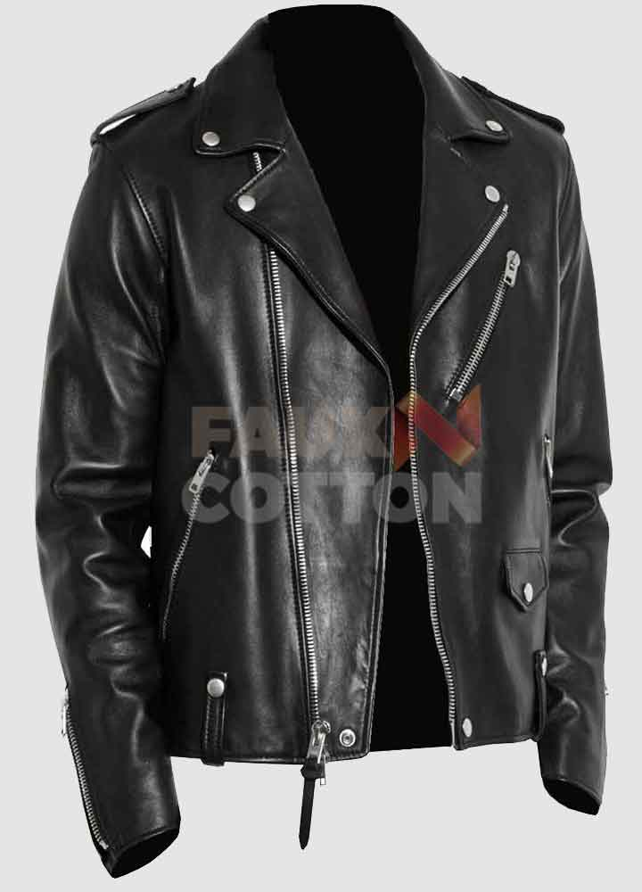 Men's Biker Vegan Leather Jacket