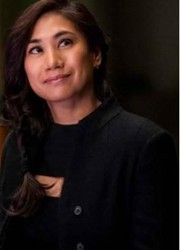 The Equalizer (Liza Lapira) Melody Bayani Black Wool Coat