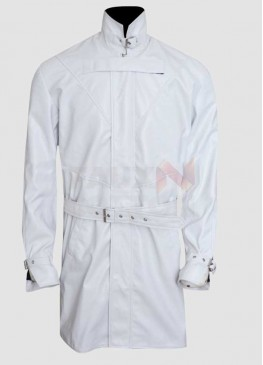 Aiden Pearce Watch Dogs White Trench Game Coat