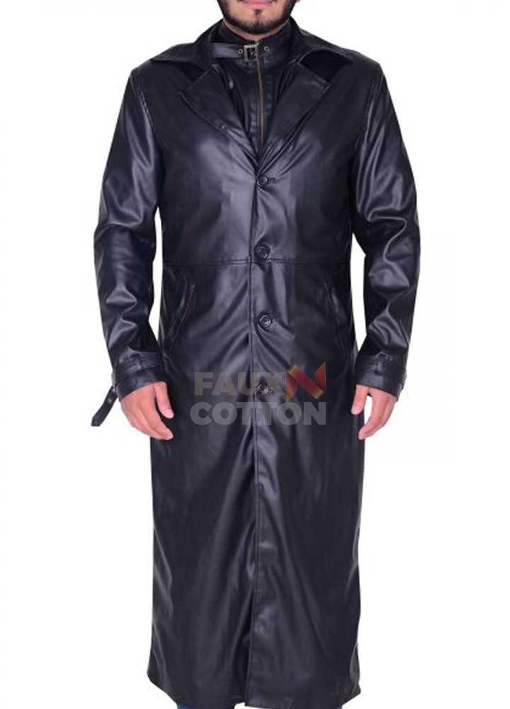 Albert Wesker Resident Evil 5 Black Costume Trench Coat