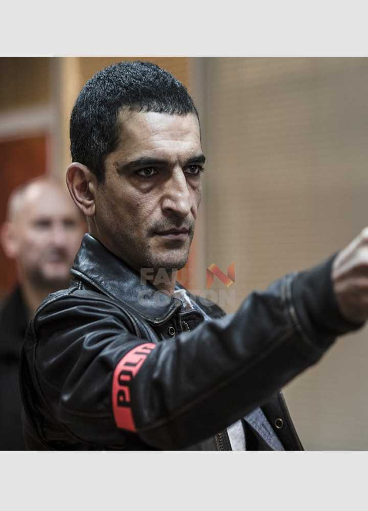 Amr Waked Lucy Pierre Del Rio Police Leather Jacket