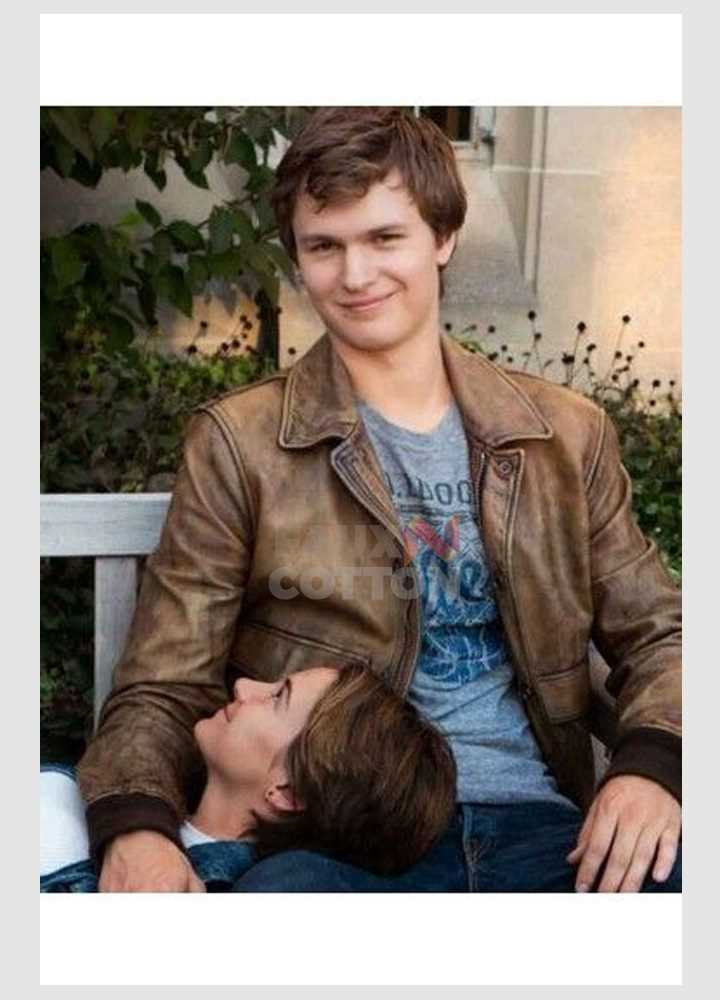Ansel Elgort Fault in our Stars Augustus Waters Bomber Jacket