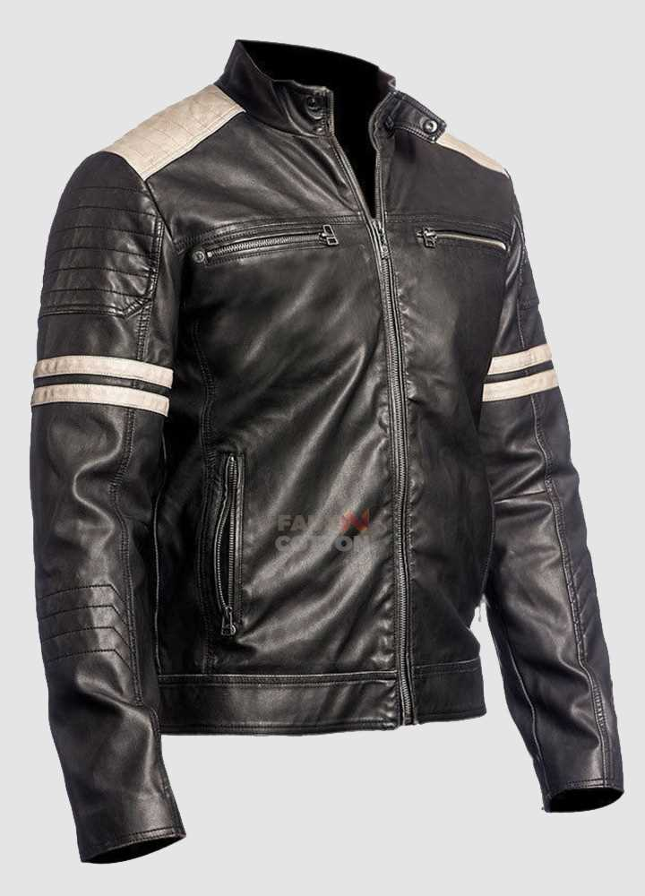 Fight Club Mayhem Cafe Racer Black Jacket