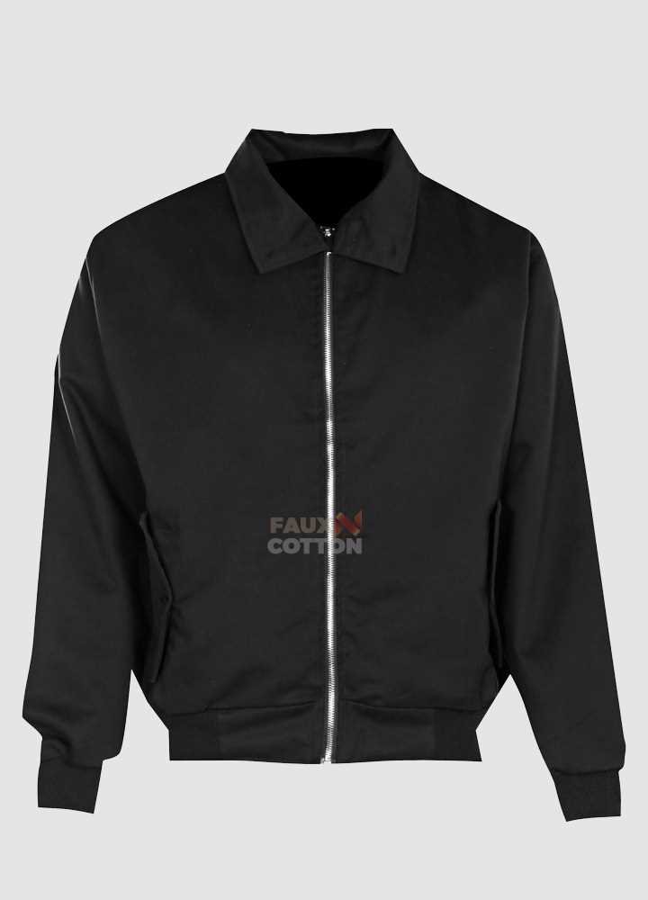 Cotton Harrington Black Mens Jacket