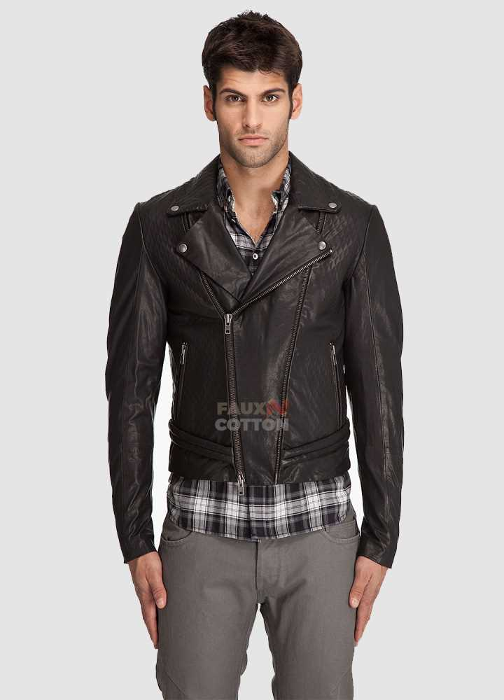 Diesel Black Gold Luperco Black Leather Jacket