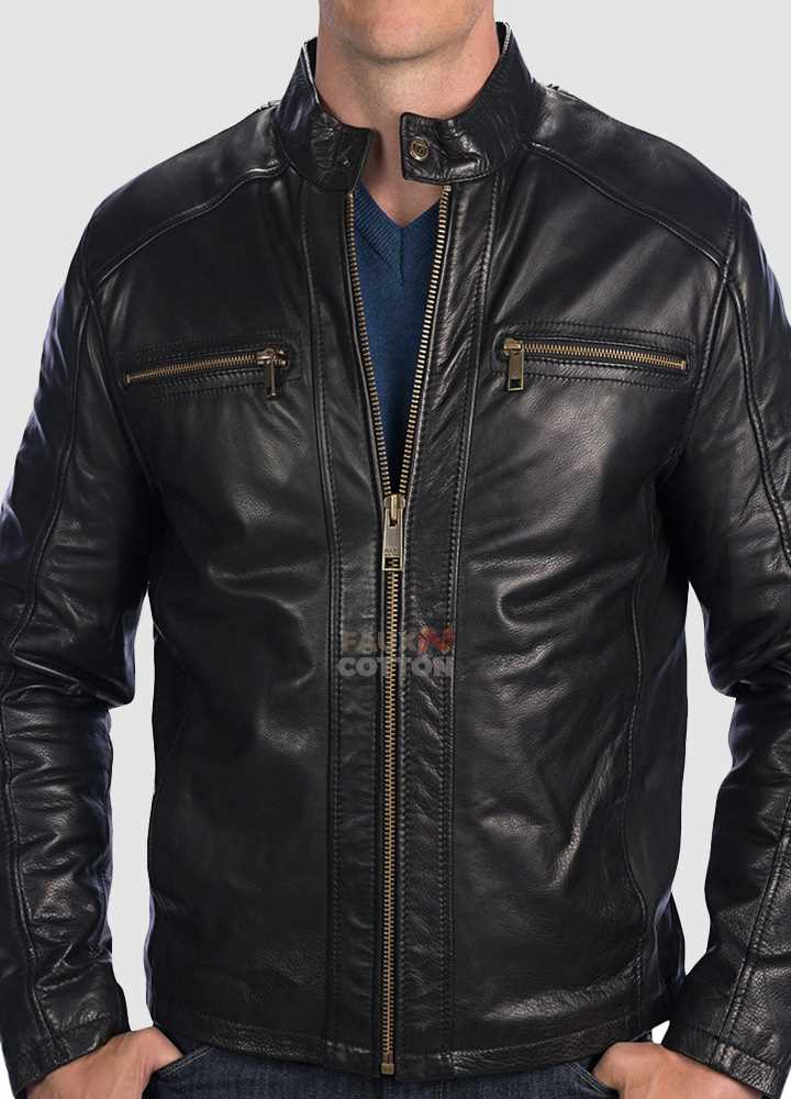 Marc New York by Andrew Marc Laser Moto Leather Jacket