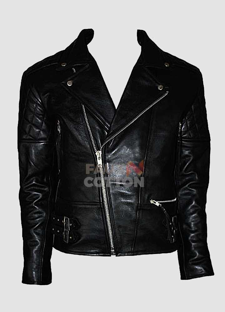 7e7389efeee91f Men s Brando Vintage Motorcycle Classic Biker Black Real Leather Jacket