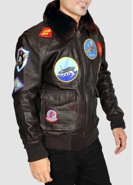 Top Gun Leather Jacket For Men
