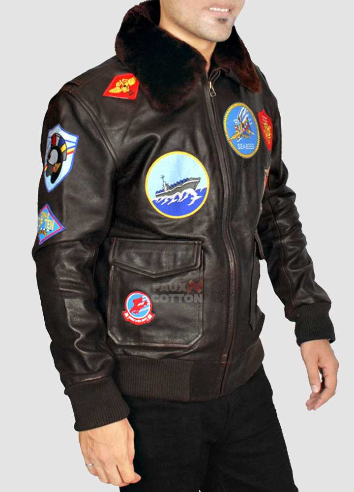 Top Gun Leather Jacket For Men