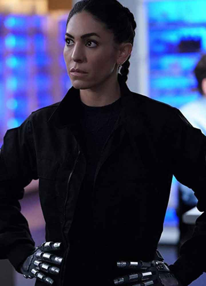 Agents of Shield (Elena Yo-Yo Rodriguez) Natalia Cordova-Buckley Black Cotton Jacket