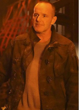 Agents of Shield Season 7 (Phil Coulson) Clark Gregg Black Leather Jacket