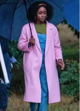 Behind Her Eyes (Louise) Simona Brown Pink Wool Coat