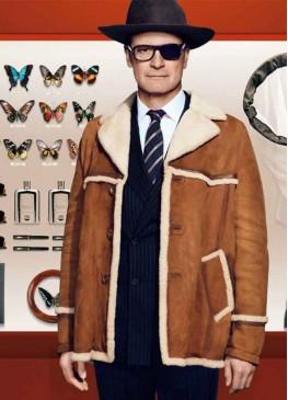 Kingsman The Golden Circle Harry Hart Leather Jacket