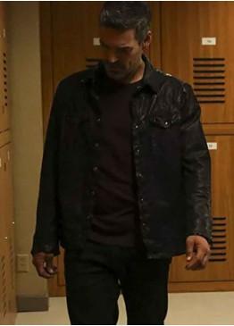 (Eddie Valetik) Take Two Eddie Cibrian Black Leather Jacket