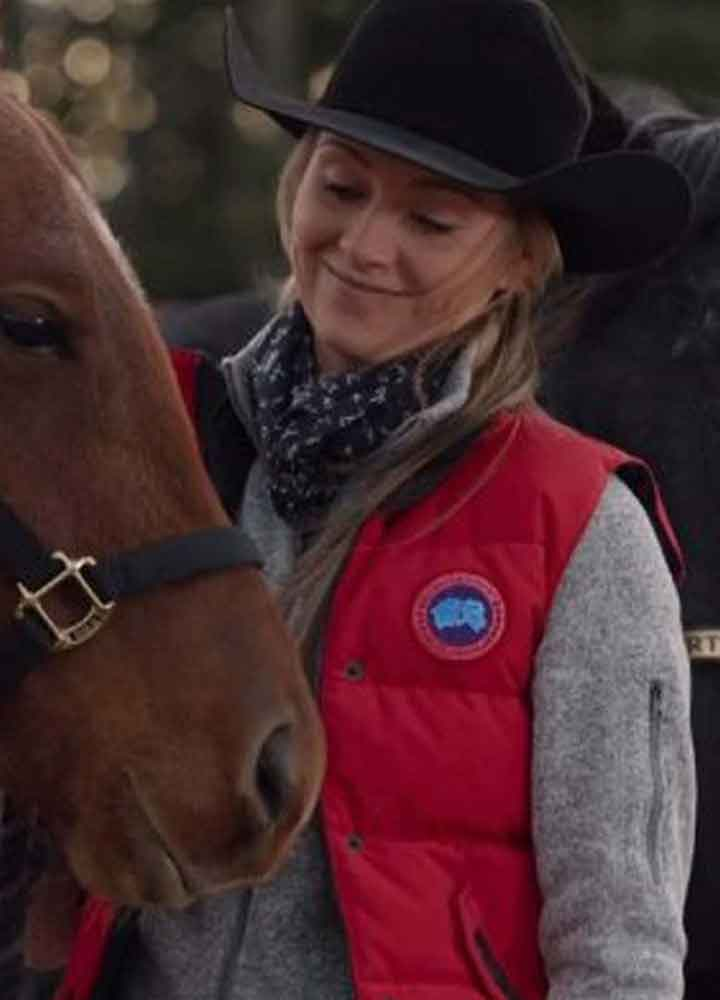 Amber Marshall Heartland S0 14 (Amy Fleming) Red Satin Vest