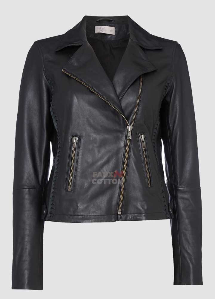 Label Lab Elba Black Leather Jacket