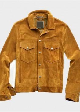 (Archie Andrews) Riverdale K.J. Apa Brown Suede Leather Jacket