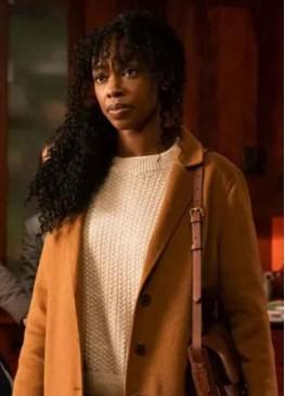 The Equalizer 2021 (Aliya Ekuban) Fedna Jacquet Brown Wool Coat