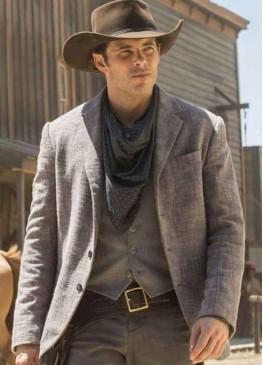 Westworld (Teddy Flood)  James Marsden Grey Wool Blazer