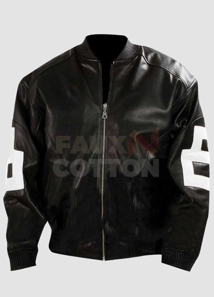 8 Ball Mens Black Bomber Jacket