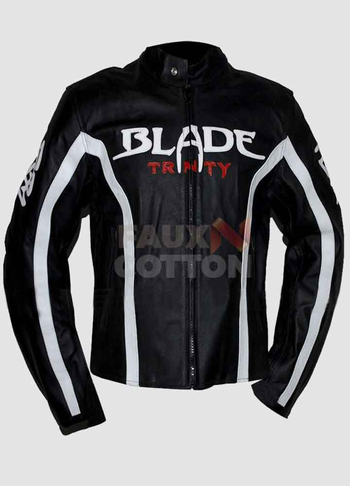 Blade Trinity Biker Leather Jacket