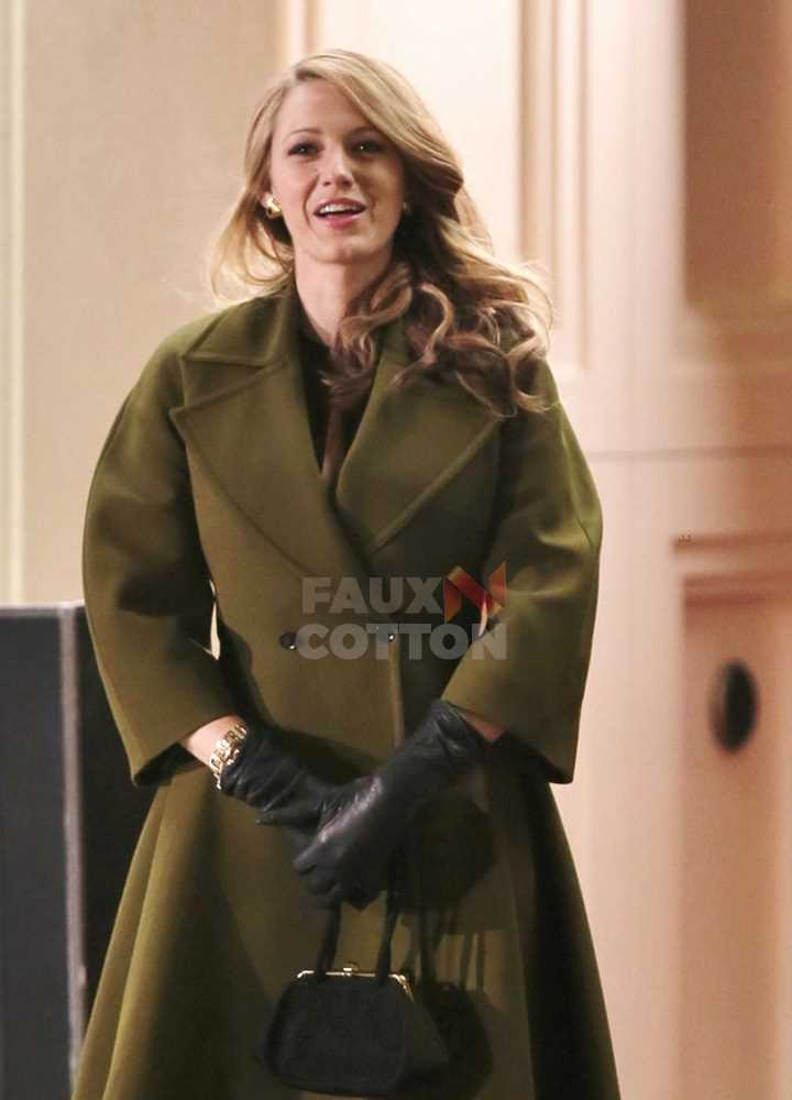 Blake Lively The Age of Adaline Green Trench Coat
