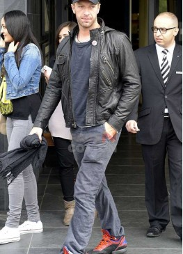 Coldplay Band Chris Martin Black Leather Jacket