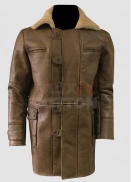 Dark Knight Rises Bane Brown Fur Coat