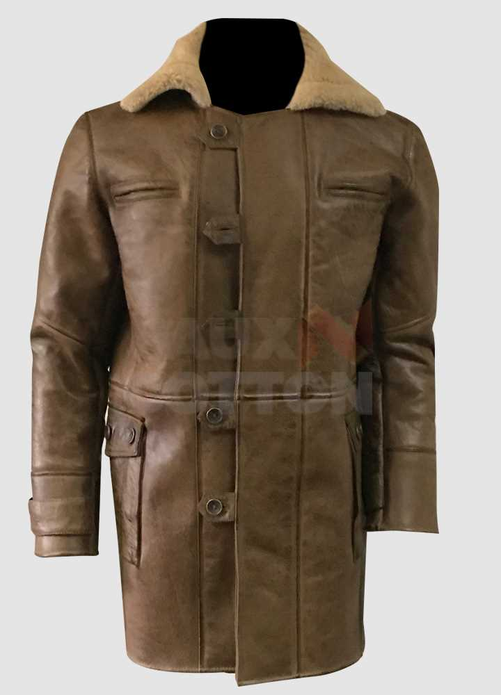 Dark Knight Rises Bane Brown Fur Coat