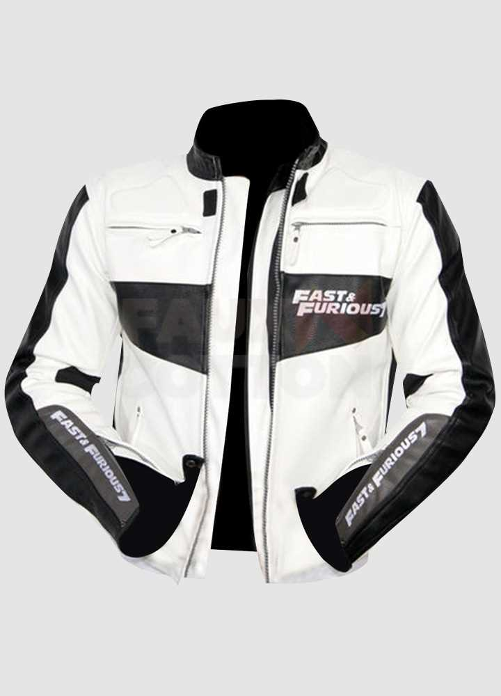 Fast And Furious 7 Vin Diesel Real Leather Jacket