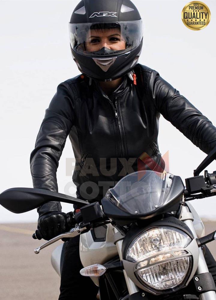 Haywire Gina Carano Black Leather Jacket