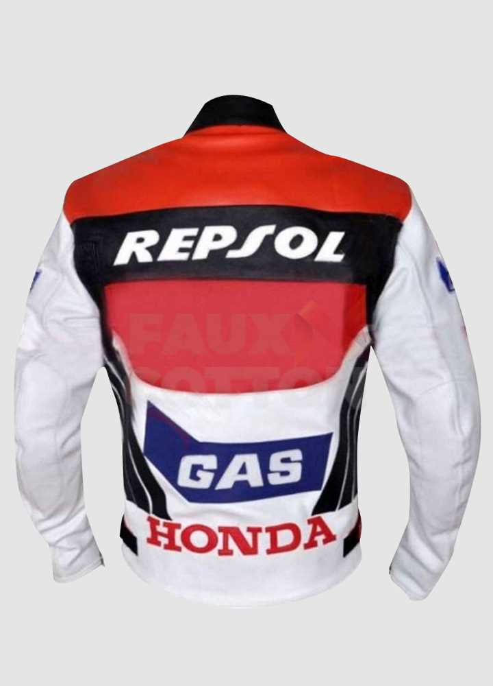 Honda Repsol Racing Motorcycle Leather Jacket