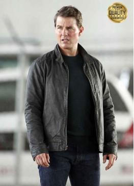 Jack Reacher Never Go Back Tom Cruise Leather Jacket