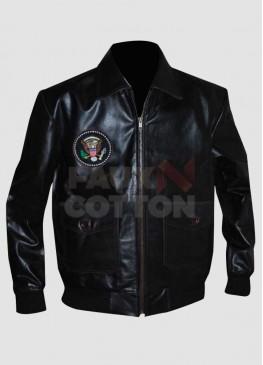 John F Kennedy Bomber Leather Jacket