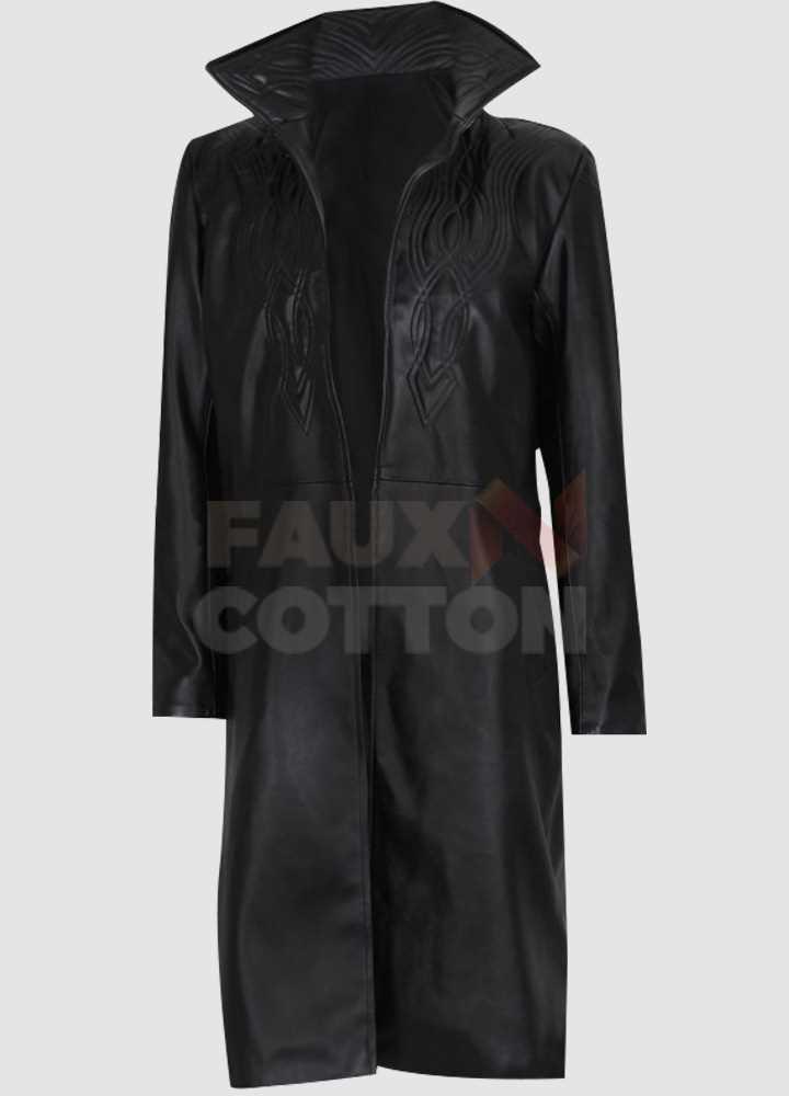 Kate Beckinsale Underworld Selene Black Leather Coat