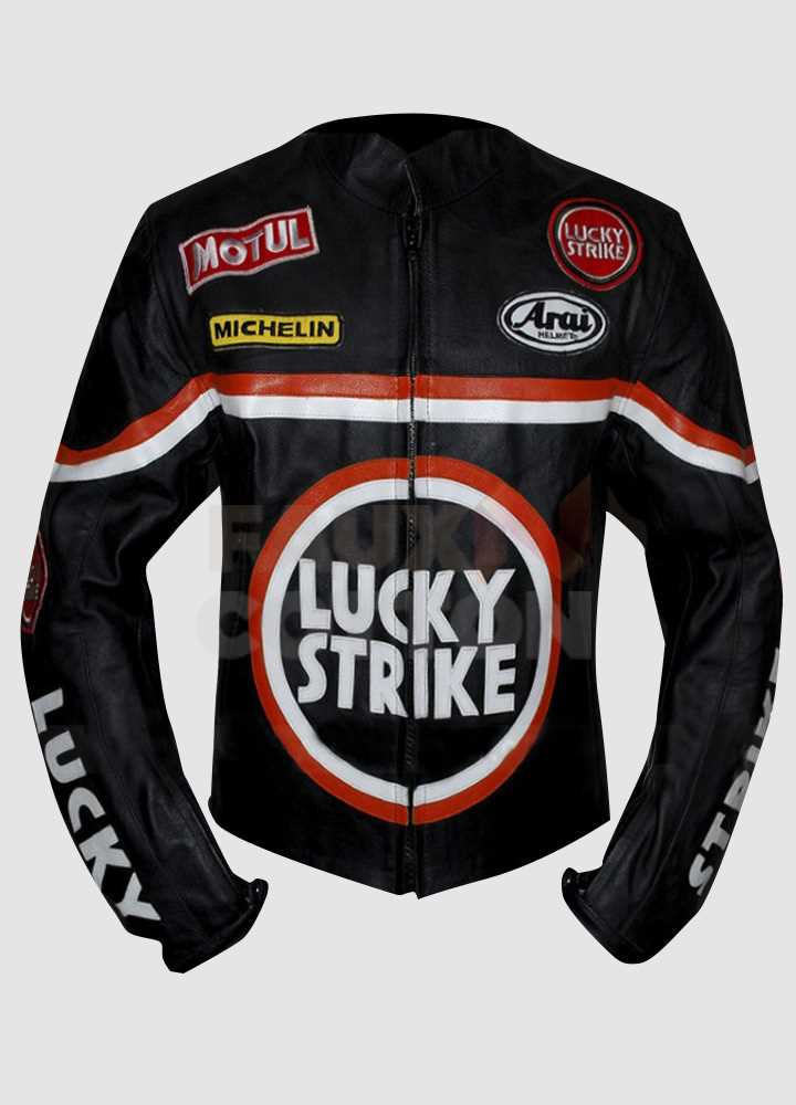 Lucky Strike Black BikrtLeather Jacket