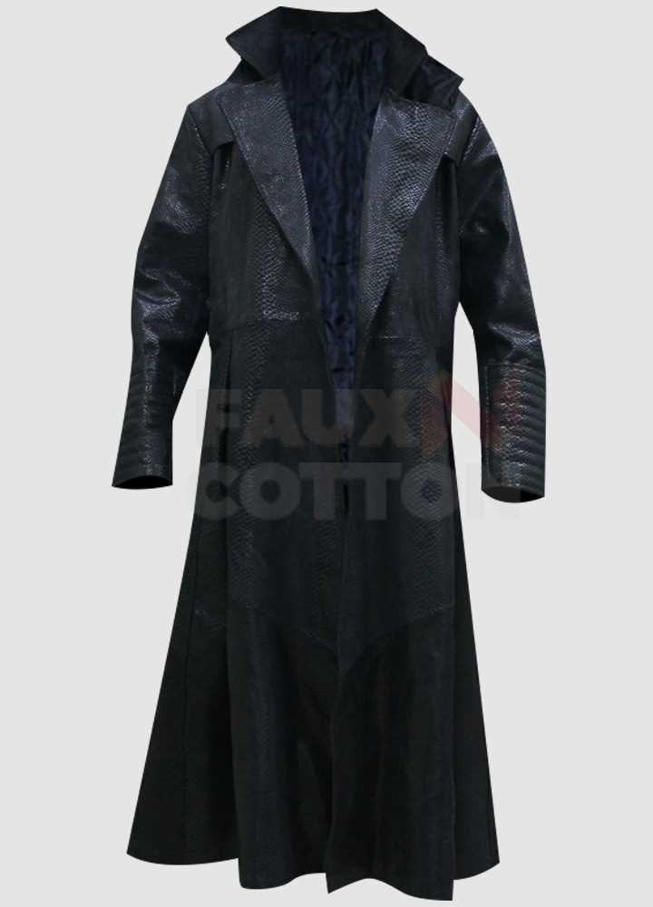 Morpheus The Matrix Laurence Fishburne Faux Leather Coat