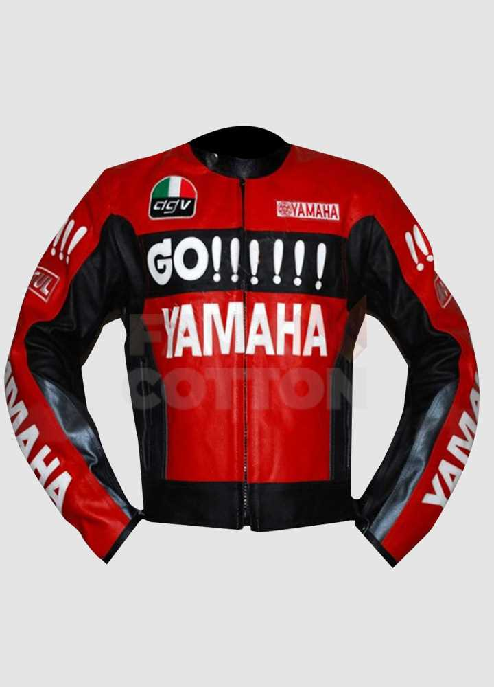 Yamaha Red and Black Leather Jacket
