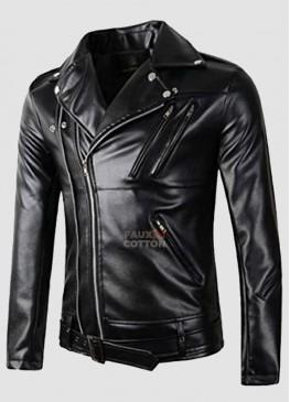 Walking Dead Jeffrey Dean Morgan Black Leather Jacket