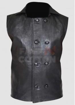 Spider-Man Noir Costume Black Leather Jacket Vest