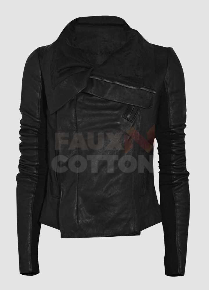 Taylor Swift Asymmetrical Zipper Black Biker Jacket