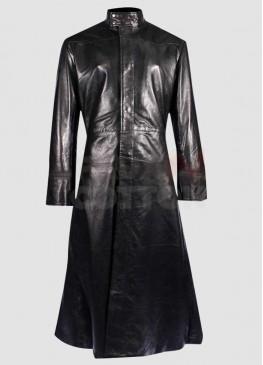 The Matrix Neo (Keanu Reeves) Black Trench Coat