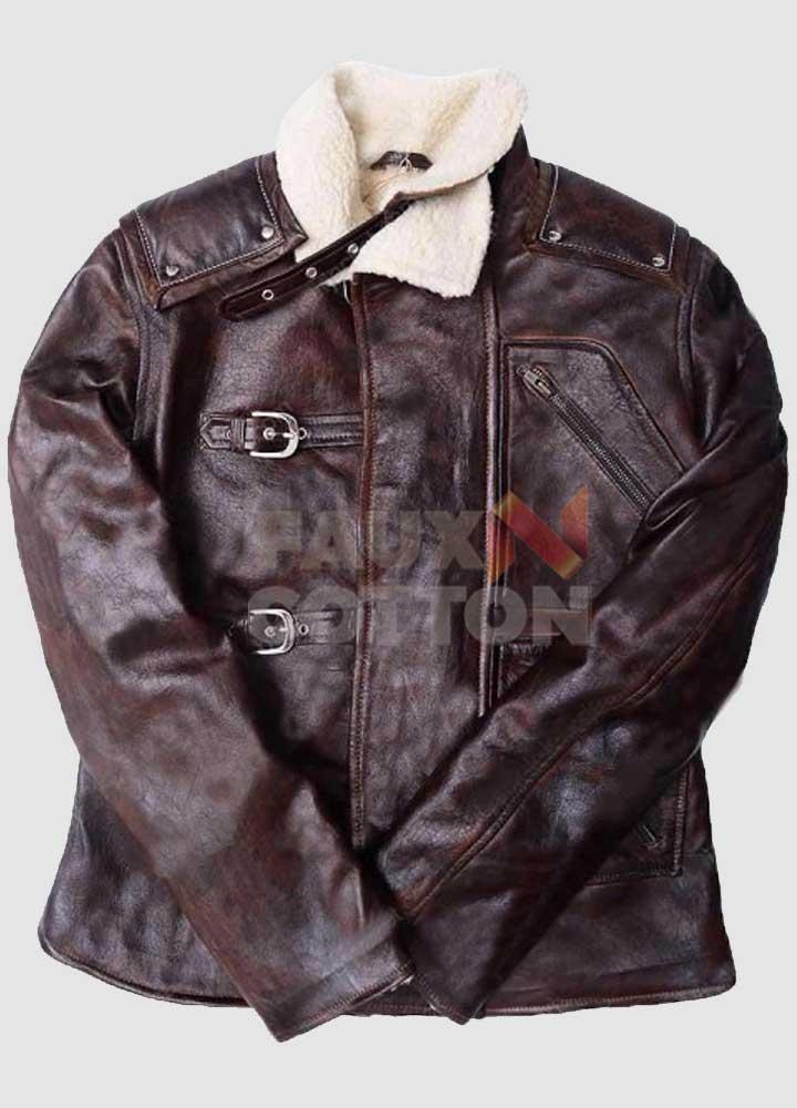 Wolfenstein B.J. Blazkowicz  Fur Leather Jacket