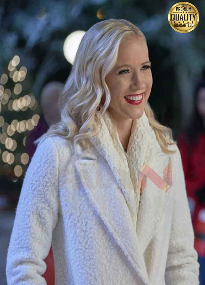 A Nashville Christmas Carol Vivienne Shearling White Coat