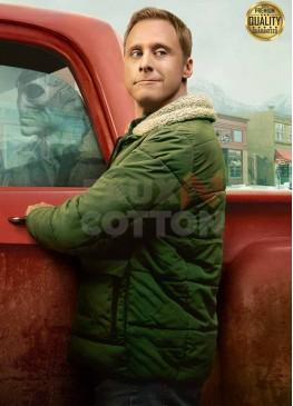 Alan Tudyk Resident Alien Harry Vanderspeigle Green Fur Jacket
