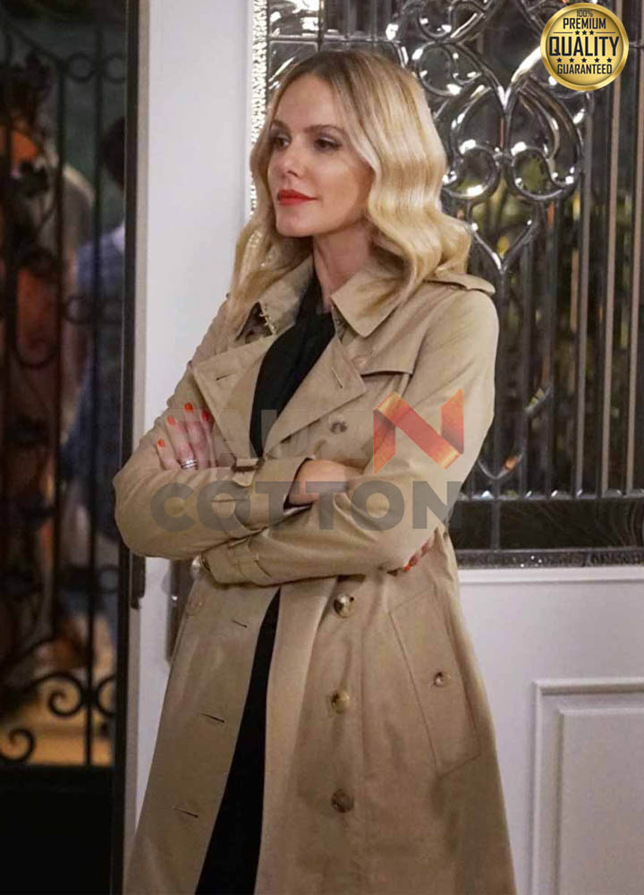 All American Laura Fine-Baker Brown Trench Coat
