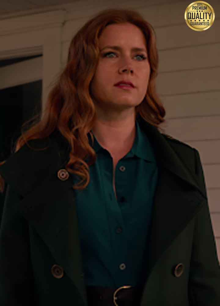 Amy Adams Zack Snyder's Justice League Black Wool Coat
