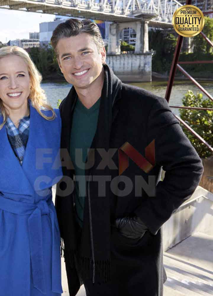 A Nashville Christmas Carol Gavin Chase Black Wool Coat
